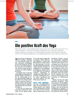 Die positive Kraft des Yoga